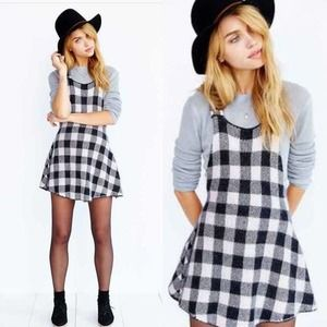 For Love and Lemons Plaid Jumper Medium NWT